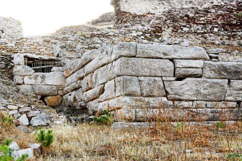 Minoan Site: Part of the Ancient Minoan Settlement