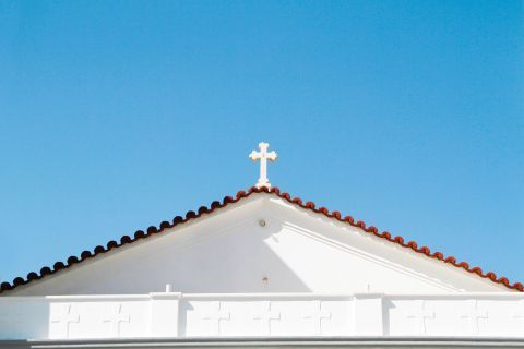 Panagia Theoskepasti: The cross on top of the church