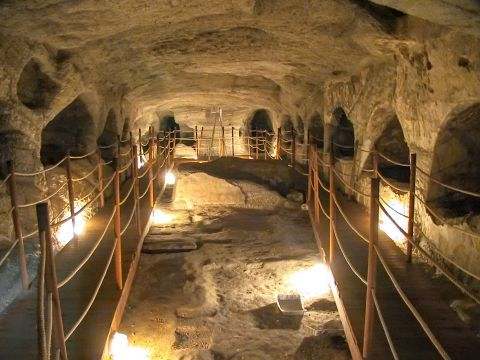 Catacombs: At the catacombs of Milos