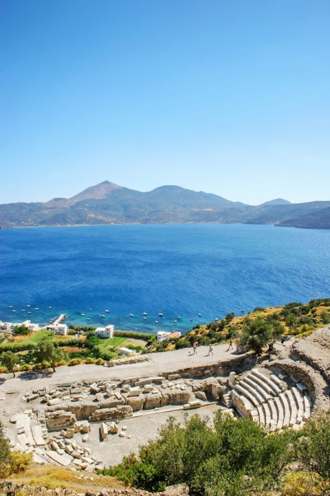 The Ancient Theater offers a stunning seaview