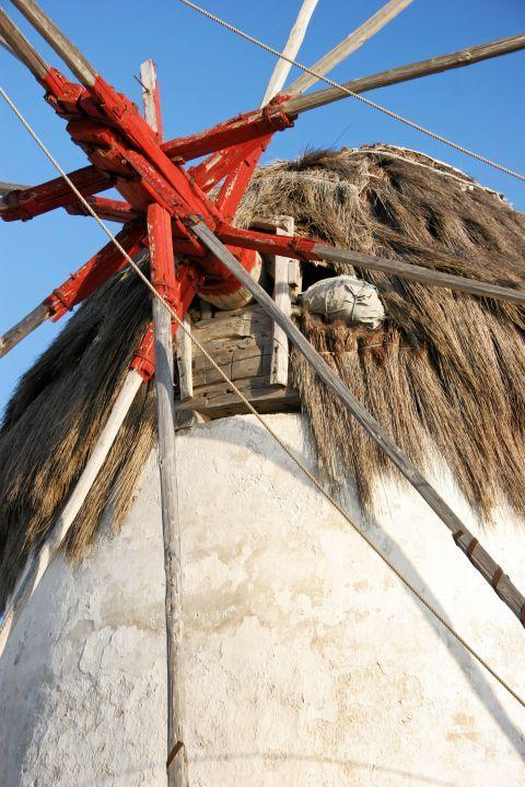 Windmills: Details of a Cycladic windmill