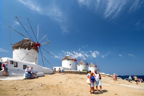 Windmills: The traditional Cycladic windmills on Mykonos island are a popular attraction