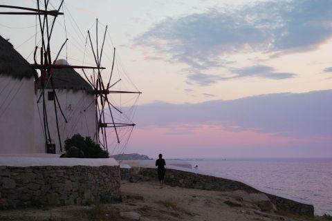 Windmills: Cycladic windmills, overlooking the Aegean sea