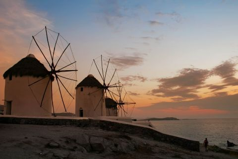 Windmills: The whitewashed windmills have become a trademark of Mykonos