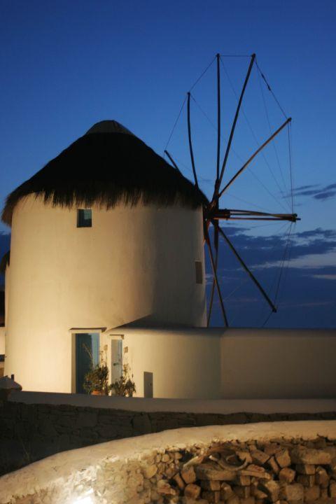 Windmills: A restored, Cycladic windmill