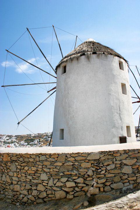 Windmills: A whitewashed windmill