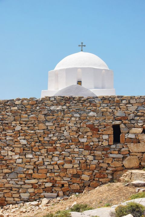 Zoodochos Pigi Monastery: The white-colored dome of the Monastery