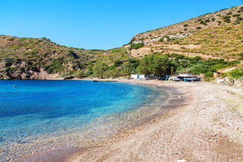 Fourni Island: A quiet beach, untouched bu human intervention.