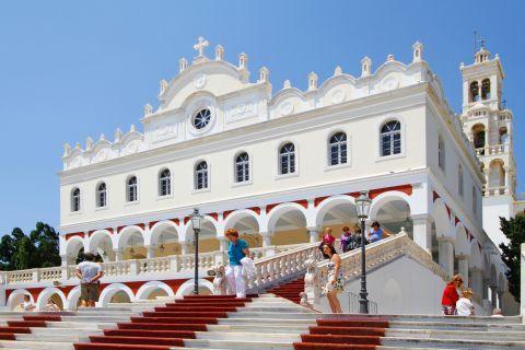 Evangelistria Church: The well-known Church of Evangelistria in Tinos