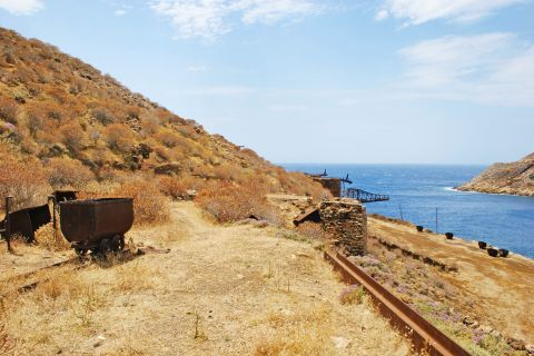 Old Mines: Some things from the old mines of Serifos are preserved until today
