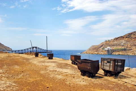 Old Mines: Machinery of the old mines of Serifos