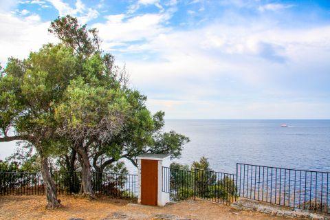 Church of Agios Ioannis Kastri: Relaxing sea view.