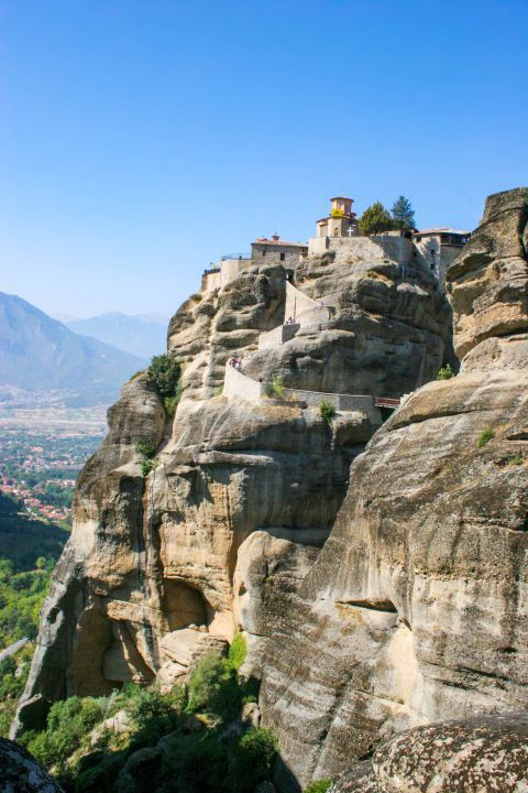 Varlaam Monastery: In order to reach this monastery, you have to climb 195 steps.