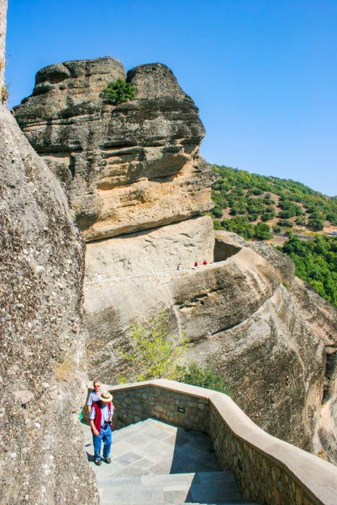 Varlaam Monastery: Ascending to Varlaam Monastery.