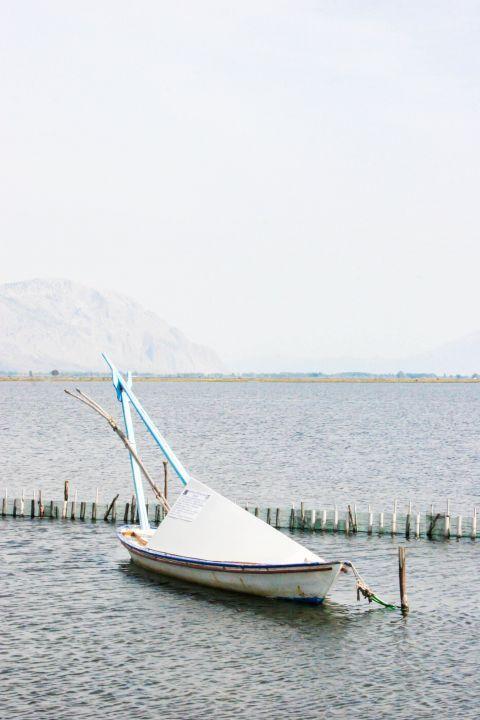 Sea Lake: A small boat.