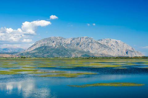 Sea Lake: Beautiful landscape from the Sea Lake in Mesolongi