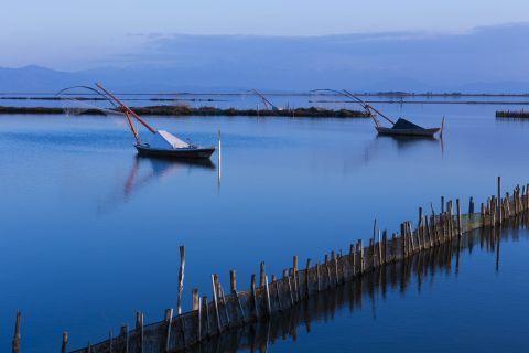 Sea Lake: Fishing boats on the Sea Lake of Mesolongi