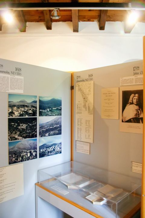 Some exhibits inform the visitors on the different stages of the fortification of the Mani peninsula.