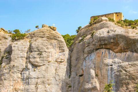 Mega Spileo Monastery: It was constructed around 326 A.D on the side of a steep hill.