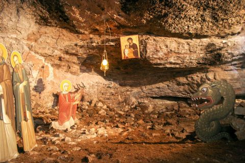 Mega Spileo Monastery: Virgin Mary is believed to be the Saint Protector of the Monastery.