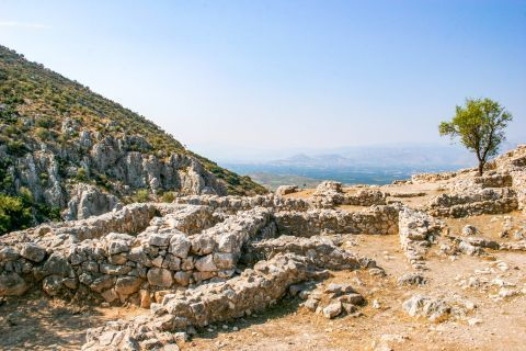 Dating back to the 13th century AD, these Cyclopean walls are the characteristic feature of the Mycenaean architecture.