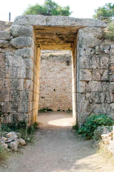 A gate inside the Cyclopean Walls.