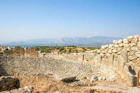Because of their huge size, the myth says that the walls of Mycenae were constructed by Cyclops.