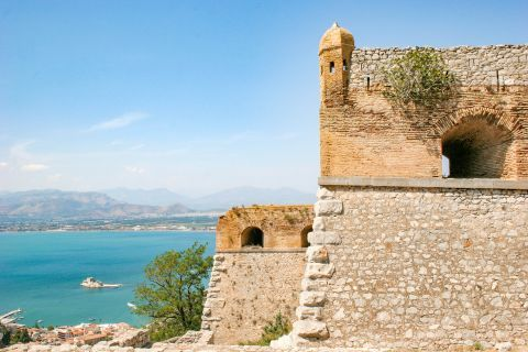 Palamidi Fortress: There are 999 steps that lead you to the top of the castle.