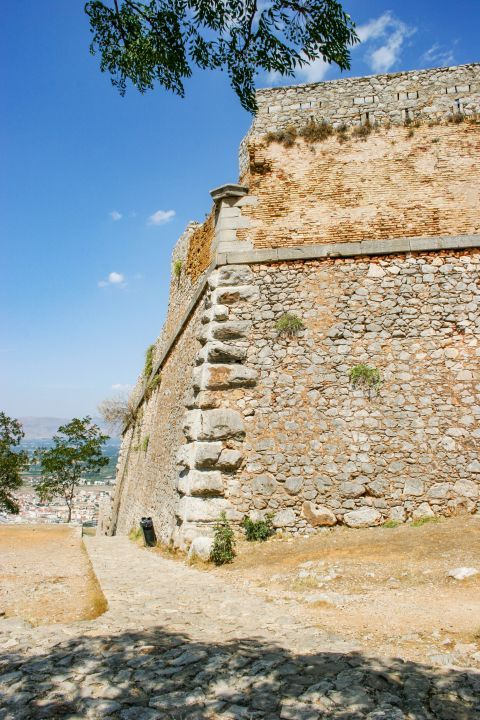 Palamidi Fortress: The eight bastions of the fortress were originally named after the Venetian provveditori. However, when it fell to the Ottoman Empire, the bastions were given Turkish names.