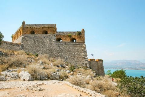 Palamidi Fortress: It was first built by the Venetians during their second occupation of the area.