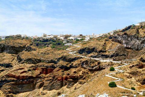 Thirassia Island: The rocky, natural landscape of Thirassia