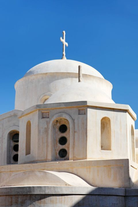 Catholic Cathedral: The whitewashed dome of the Cathedral