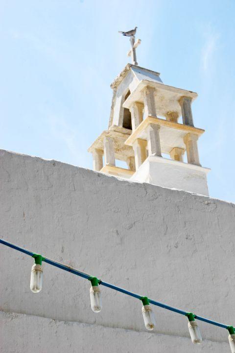 Catholic Church: The top of the Catholic Church of Panagia Rodario in Mykonos