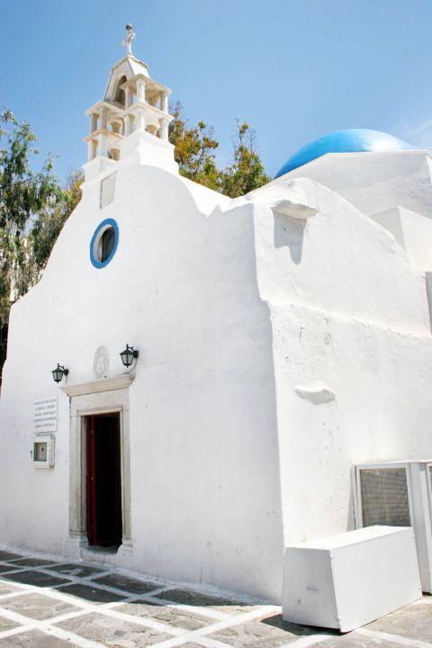Catholic Church: The whitewashed Catholic Church of Panagia Rodario in Mykonos