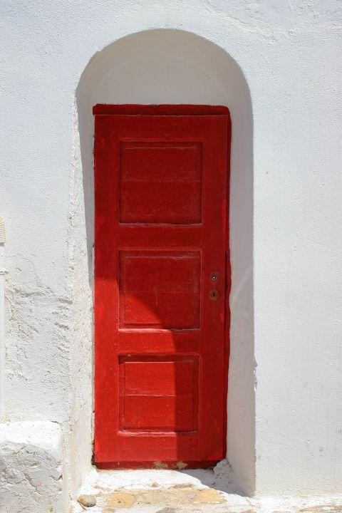 Catholic Church: The entrance of the Catholic Church of Panagia Rodario