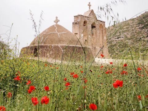 Panagia Drossiani church: Panagia Drossiani and its beautiful natural surroundings