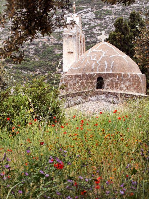 Panagia Drossiani church: Panagia Drossiani has round smooth shapes and a dome