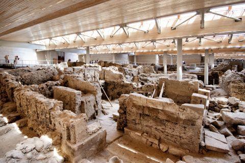Akrotiri Minoan Site: Santorini Akrotiri Minoan Site