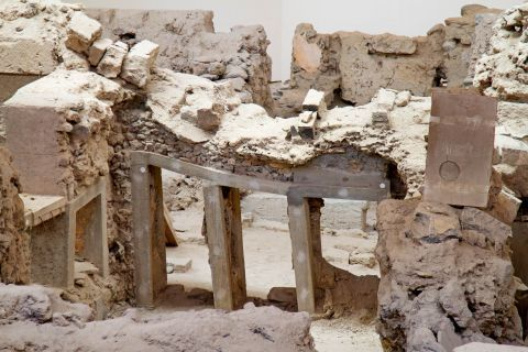 Akrotiri Minoan Site: Ancient ruins in Akrotiri Minoan Site