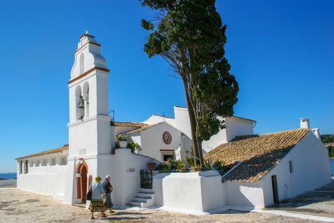Kanoni and Mouse Island: The church of Panagia Vlaherna