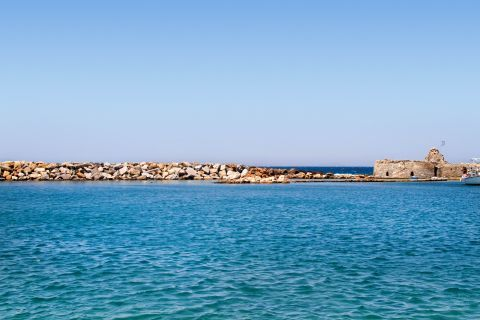 Venetian Castle: The Venetian castle of Paros is surrounded by crystal blue waters