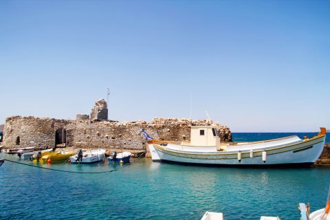 Venetian Castle: The Venetian castle of Paros in the old port of Naoussa