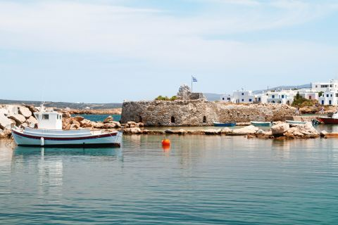 Venetian Castle: The Venetian castle of Paros is surrounded by Cycladic buildings and crystal blue waters