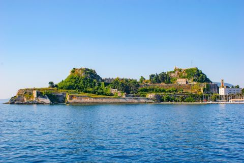Old Fortress: The Old Fortress is the first thing to see as the ferry approaches Corfu