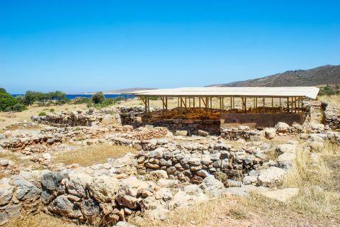 Palekastro: The Minoan site of Roussolakkos is spotted near Palekastro beach.
