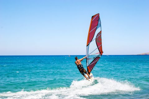 Palekastro: As Palekastro beach is easily affected by the strong winds, it is an ideal choice for the lovers of windsurfing.