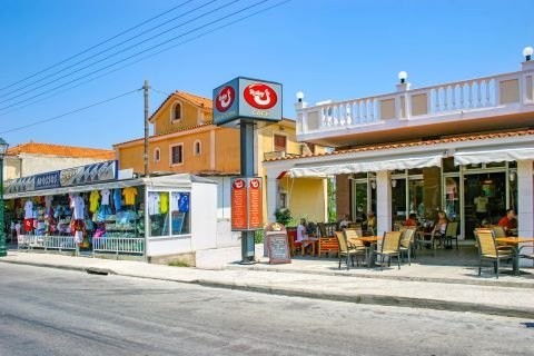 Argassi Village: Cafes and tourist shops.