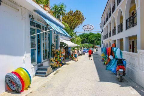 Argassi Village: A narrow street with souvenir shops.