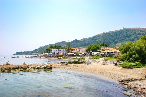 Argassi Village: Sandy beach, clean waters.