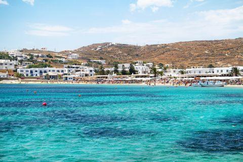 Ornos: The azure waters of Ornos